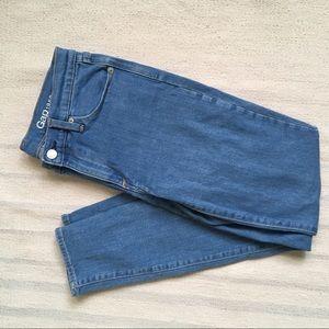 Gap 27 true skinny blue jeans
